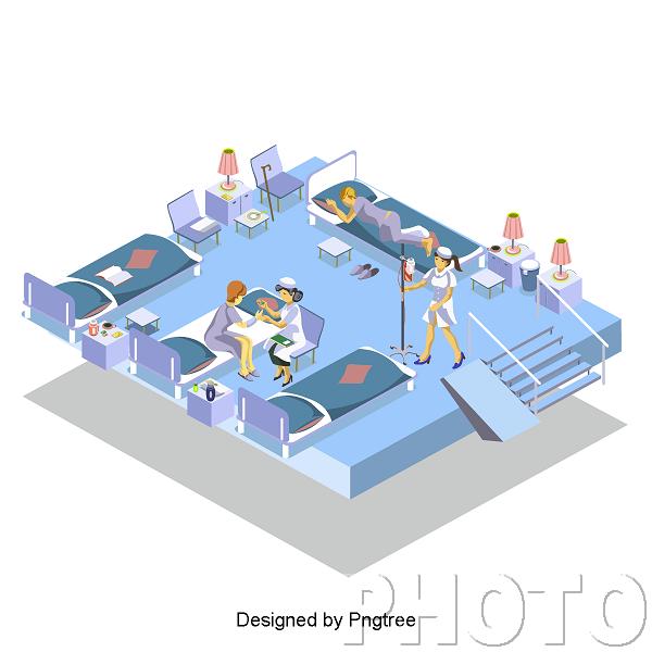 —Pngtree—fashion cartoon 2.5d hospital care_3650855.png
